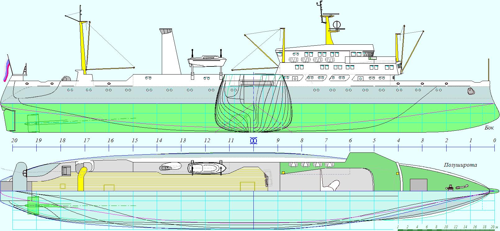 Промысловая схема судна